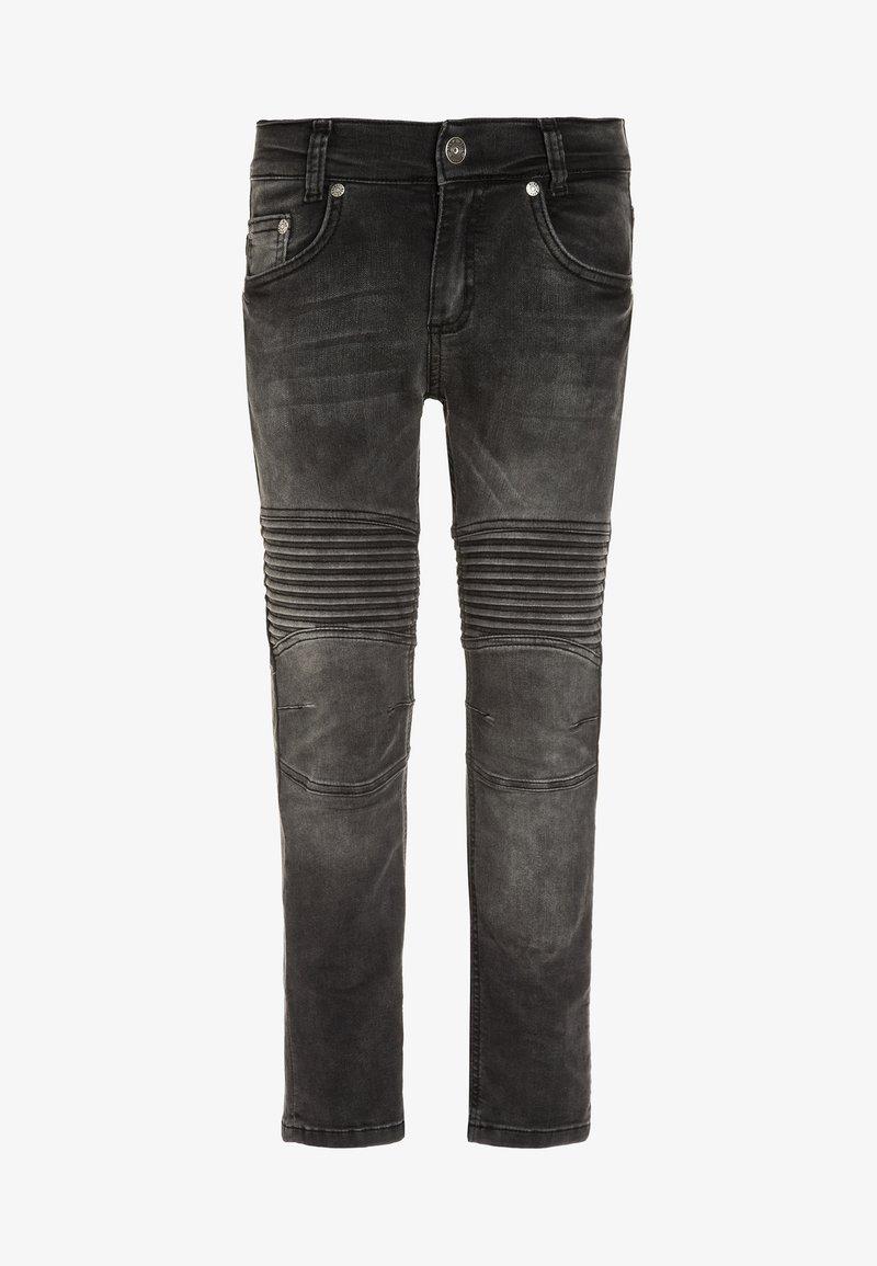 Blue Effect - BIKER - Jeans Skinny Fit - black denim