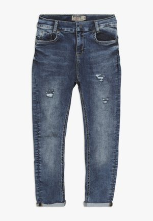BOYS LOW CROTCH CROPPED - Jeans fuselé - medium blue