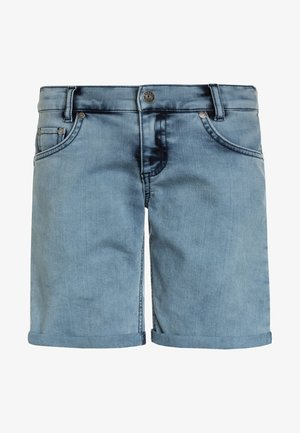 BOYS BASIC - Denim shorts - blue bleached