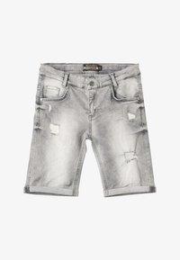 Blue Effect - BOYS - Jeans Shorts - medium grey destroyed - 4