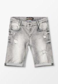 Blue Effect - BOYS - Jeans Shorts - medium grey destroyed - 0