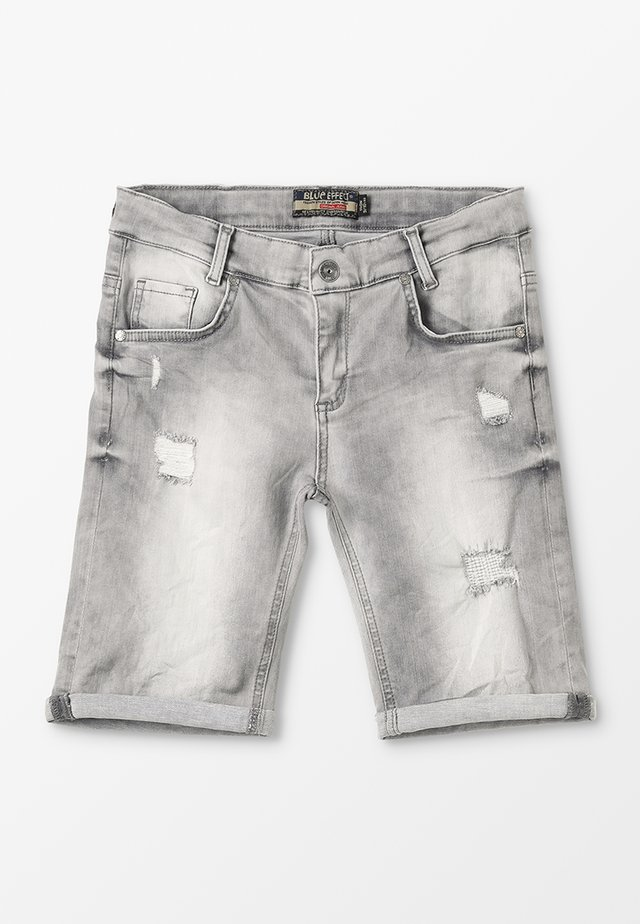 BOYS - Jeans Shorts - medium grey destroyed