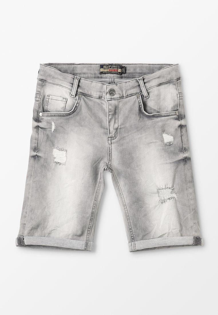 Blue Effect - BOYS - Jeans Shorts - medium grey destroyed