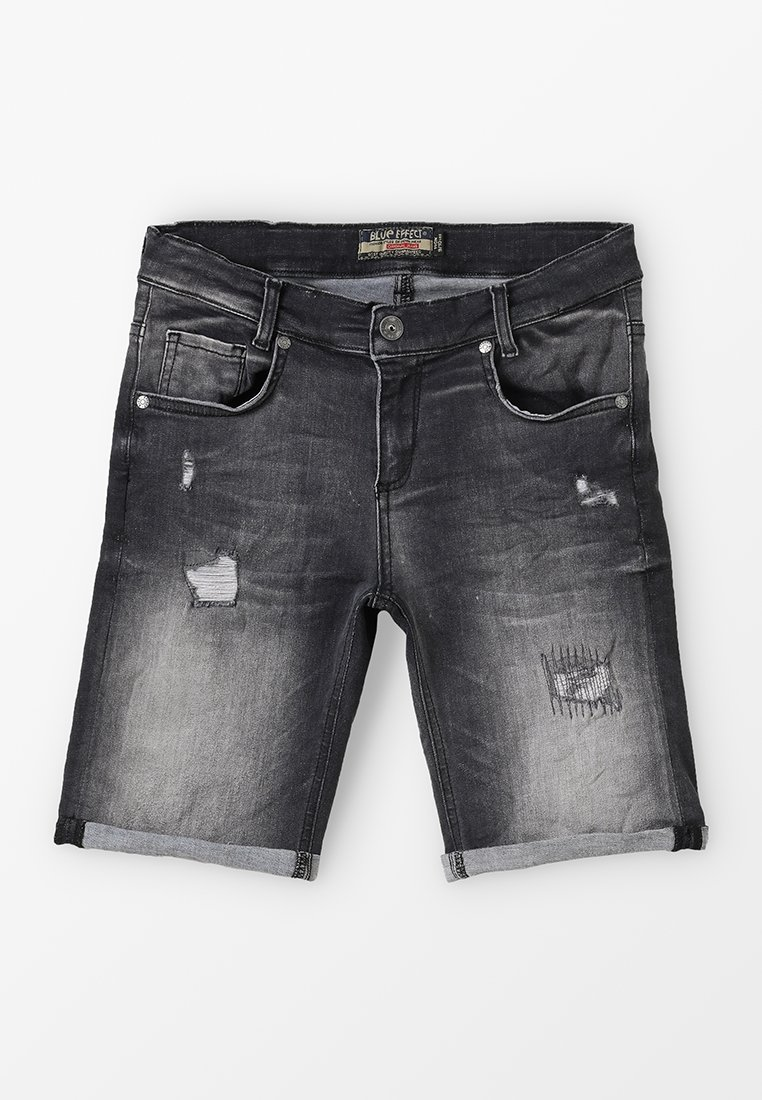 Blue Effect - BOYS - Denim shorts - black medium