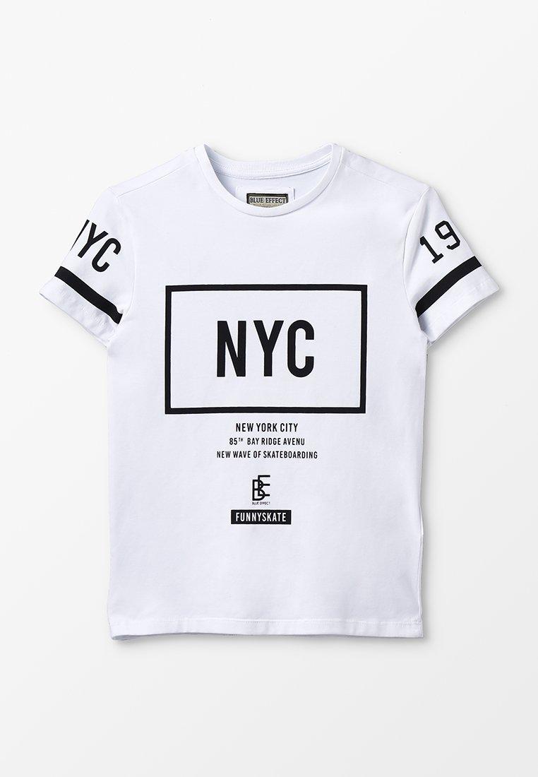 Blue Effect - BOYS NYC - Print T-shirt - weiß reactive