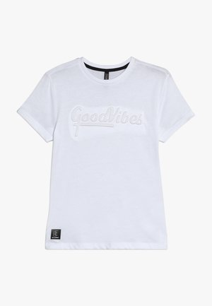 BOYS GOOD VIBES - T-shirt con stampa - schneeweiss