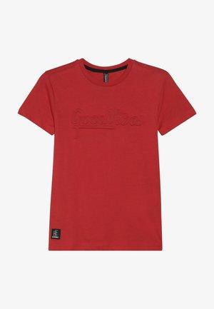 BOYS GOOD VIBES - T-shirt z nadrukiem - feuerrot reactive