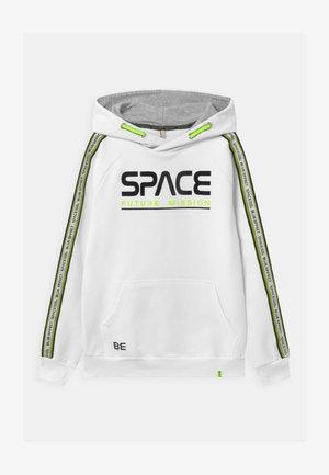 BOYS HOODIE SPACE - Mikina skapucí - schneeweiß/reactive