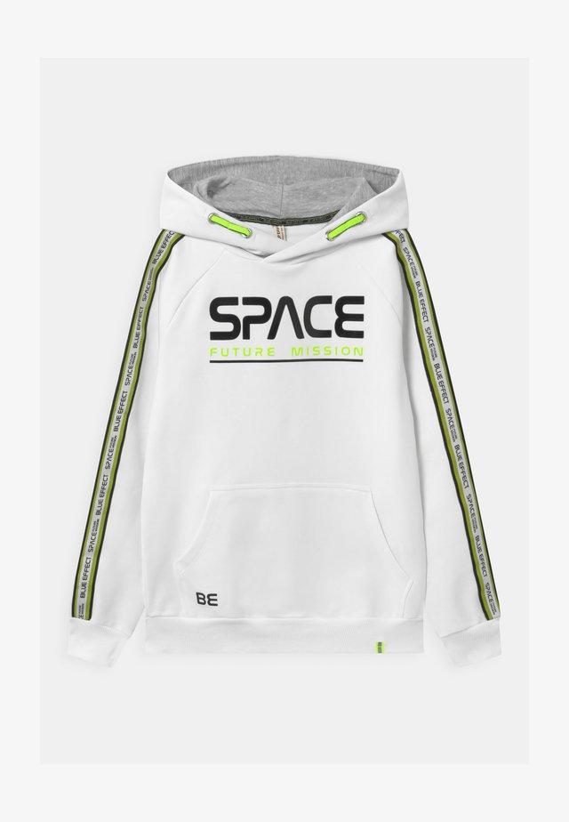 BOYS HOODIE SPACE - Felpa con cappuccio - schneeweiß/reactive