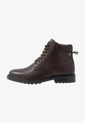 ELI - Lace-up ankle boots - choc