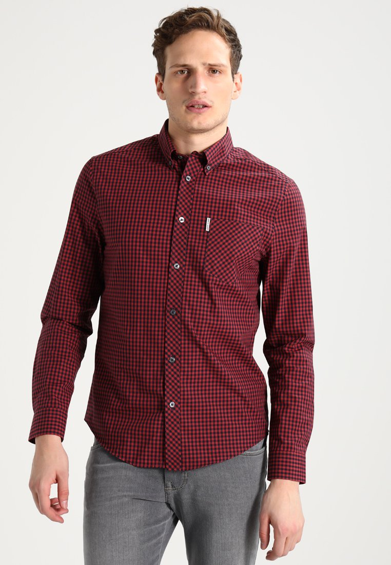 Ben Sherman - CORE GINGHAM - Overhemd - burgundy