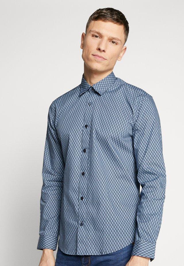 FINE GEO PRINT - Shirt - navy