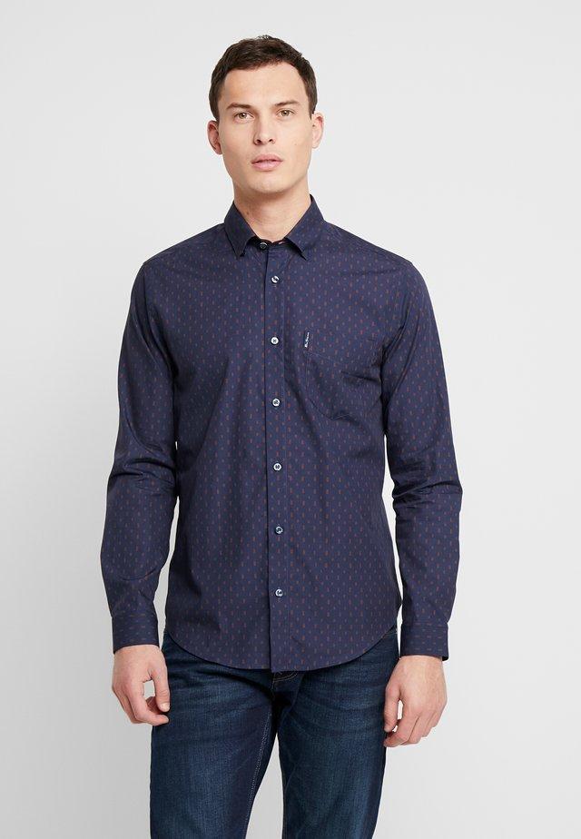 GEO PRINT SHIRT - Shirt - navy