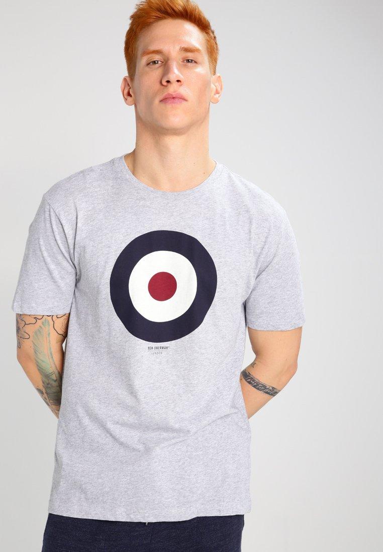 Ben Sherman - Print T-shirt - oxford marl
