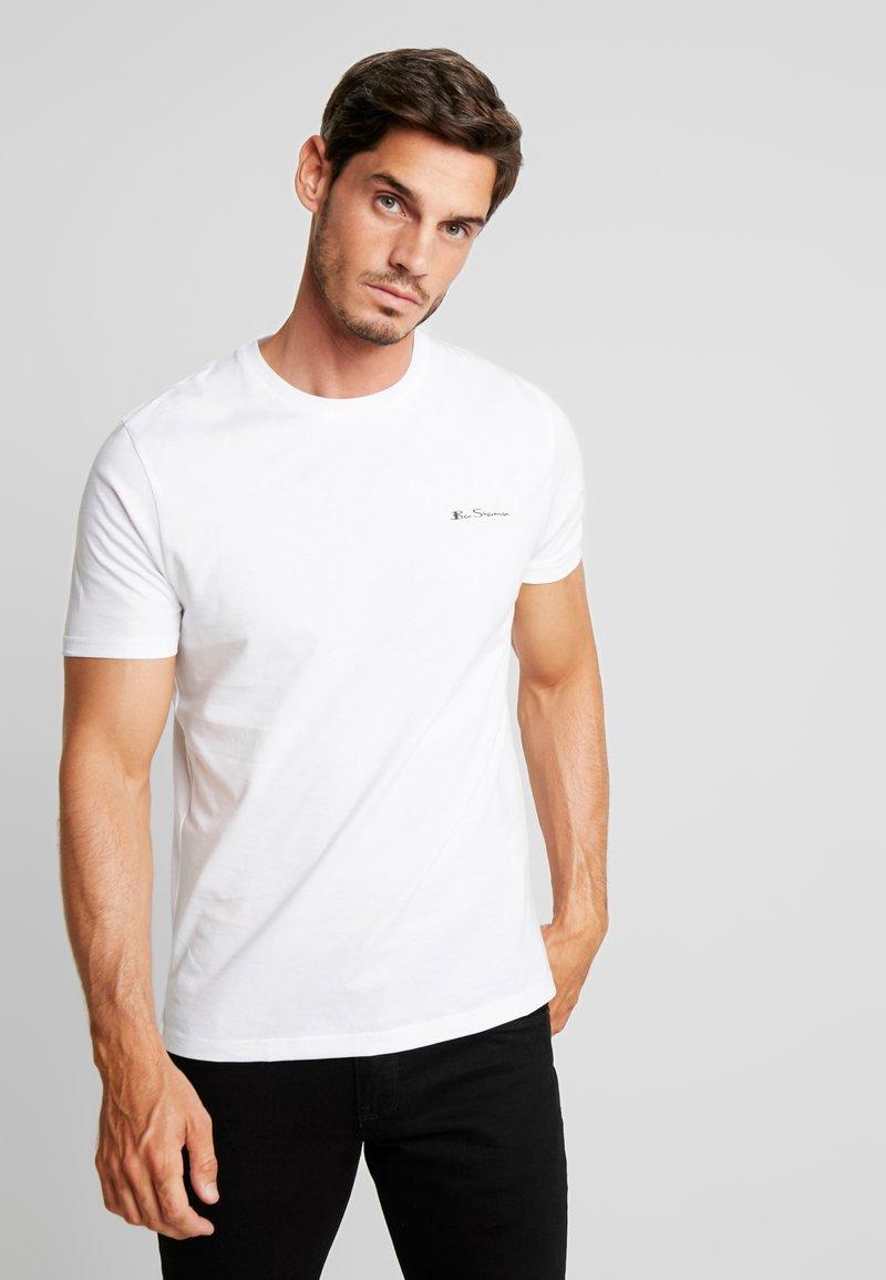 Ben Sherman - LOGO TEE - T-Shirt basic - white
