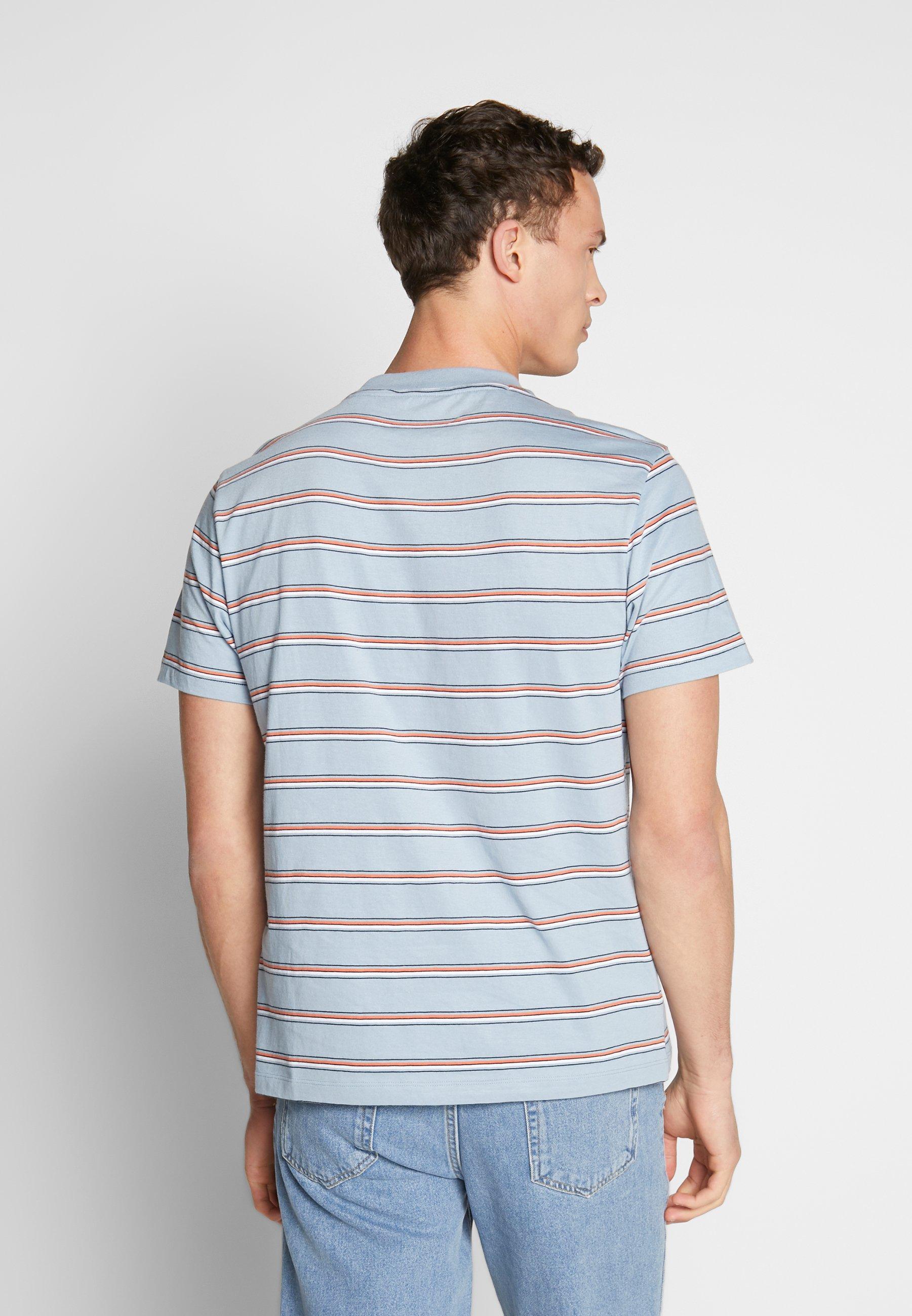 Ben Sherman Vintage Stripe Tee - T-shirt Imprimé Dusky Blue