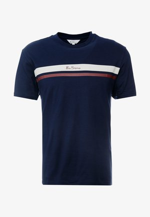 MOD STRIPE LOGO TEE - Print T-shirt - dark navy