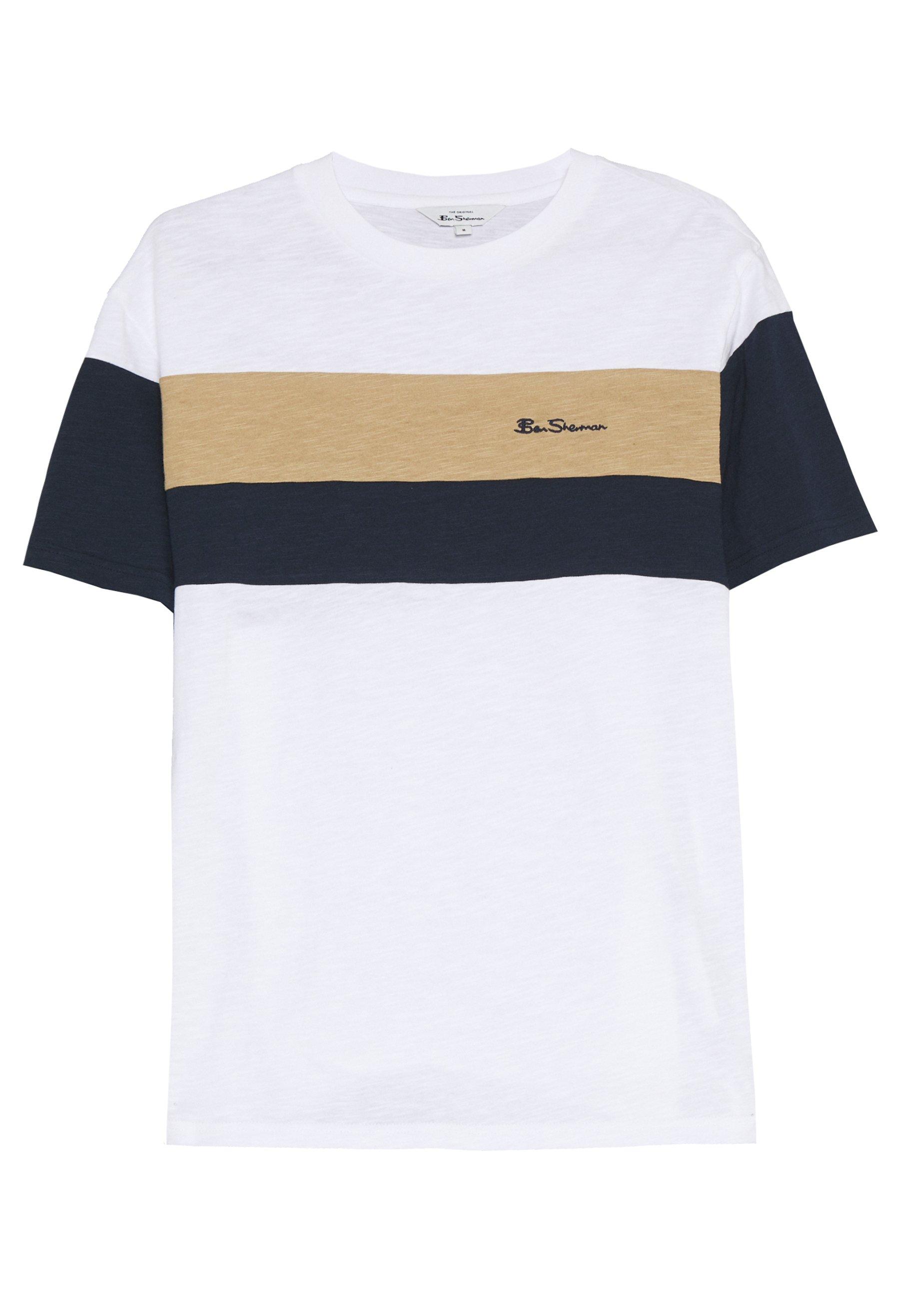 HERITAGE SPORTS BLOCK TEE T shirt imprimé white