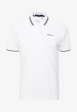 SCRIPT TIPPED POLO - Poloskjorter - white