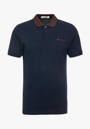 MOD STRIPE COLLAR - Polo - dark navy