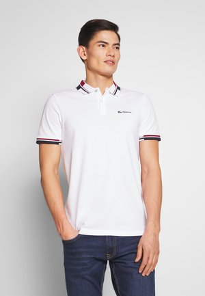 STRIPE COLLAR - Poloshirt - white