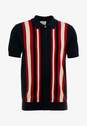 TEXTURED STRIPE ZIP THRU  - Košile - dark navy
