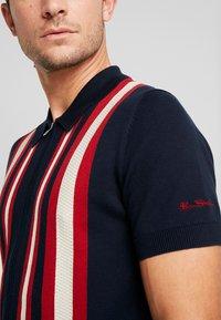 Ben Sherman - TEXTURED STRIPE ZIP THRU  - Overhemd - dark navy - 5