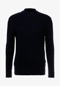 Ben Sherman - HEAVY STRUCTURE FUNNEL CREW - Stickad tröja - dark navy - 3