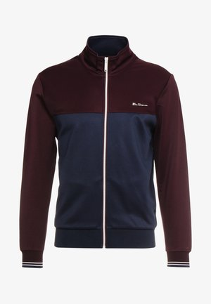 ZIP THROUGH COLOUR BLOCK TRICOT TRACK - Giacca sportiva - wine