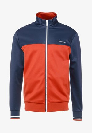 ZIP THROUGH COLOUR BLOCK TRICOT TRACK - Trainingsvest - dark navy