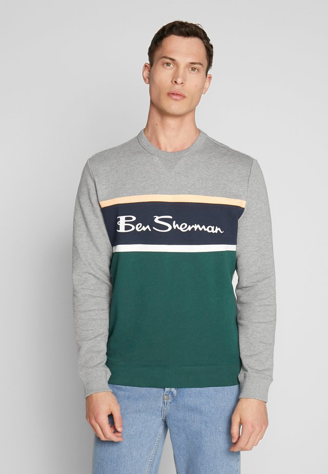 COLOUR BLOCKED LOGO - Sweatshirt - steel