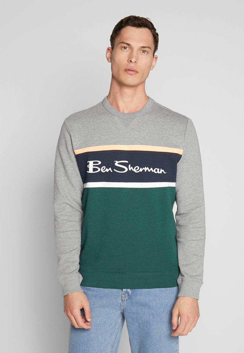 Ben Sherman - COLOUR BLOCKED LOGO - Sweatshirt - steel