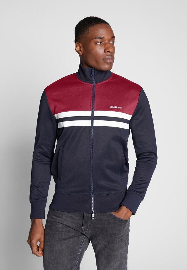 COLOUR BLOCK TRICOT - Zip-up hoodie - dark navy