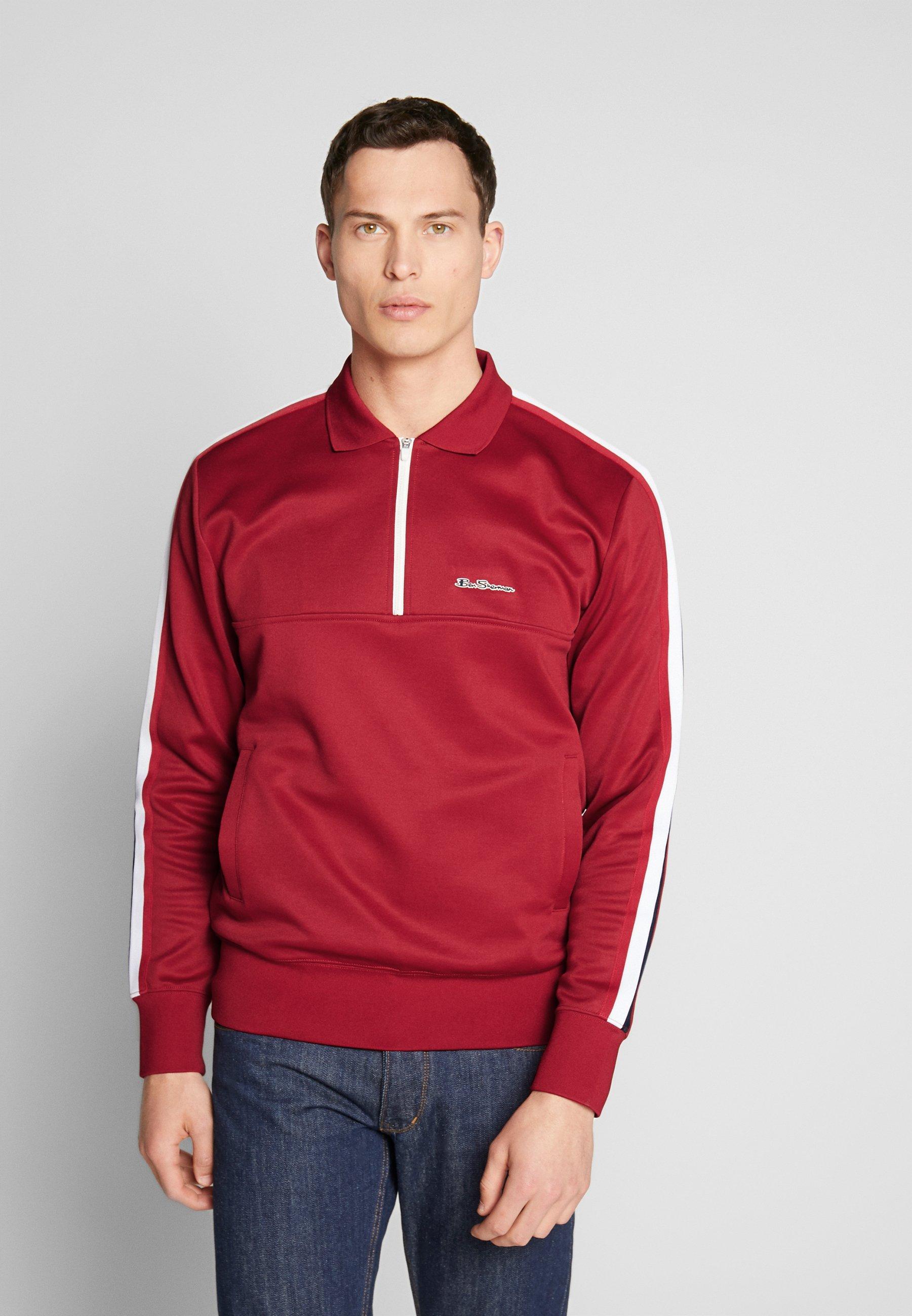 Ben Sherman MOD TAPE TRICOT - Koszulka polo - red