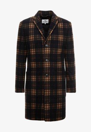 CHECK LONG TAILORED COAT - Classic coat - black
