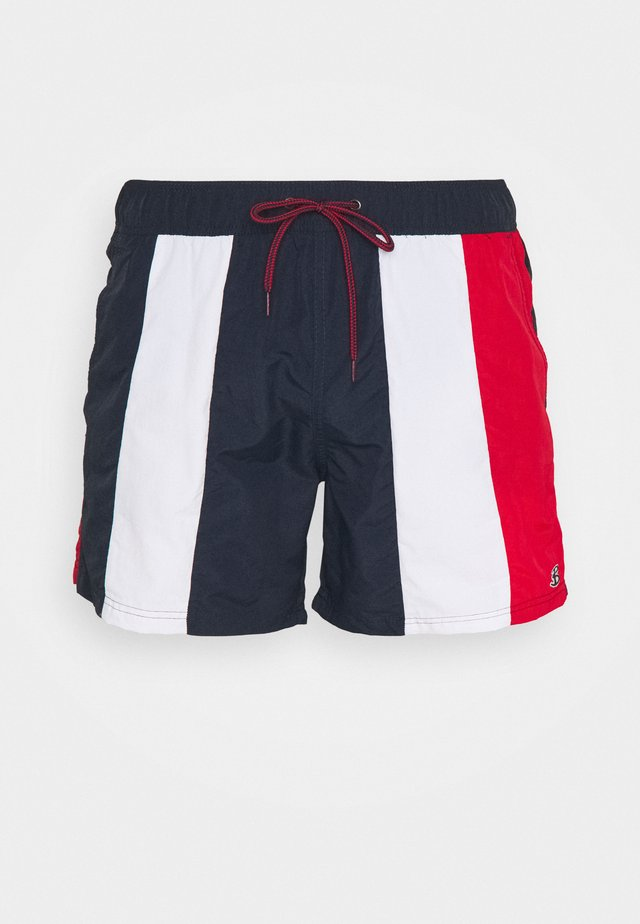 KAPUTAS - Swimming shorts - red/navy/white