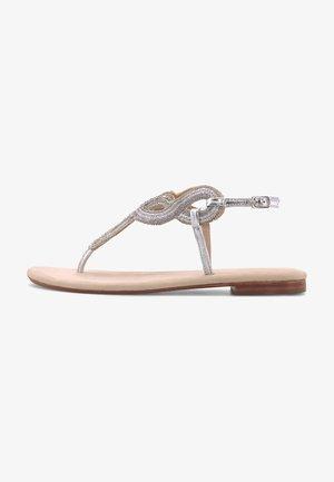 ETHNO - T-bar sandals - silber
