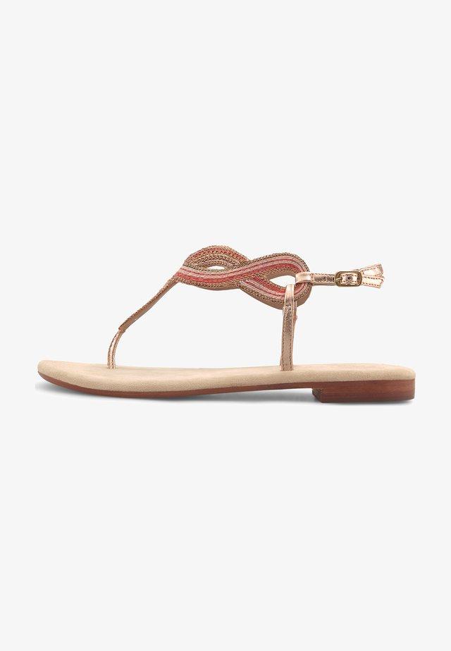 ETHNO - T-bar sandals - gold