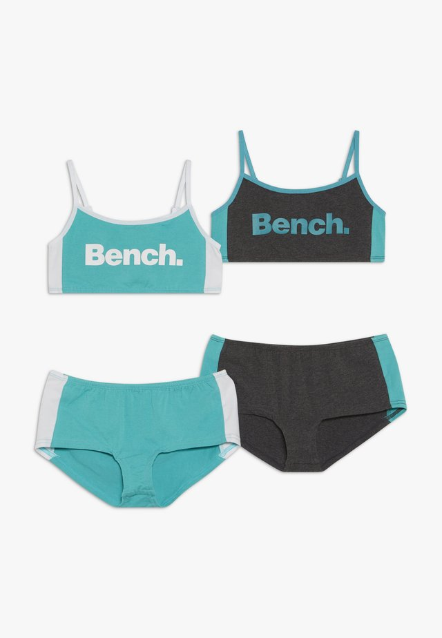 BENCH BUSTIER PANTY SET 2 PACK - Set intimo - mint/anthracite/white