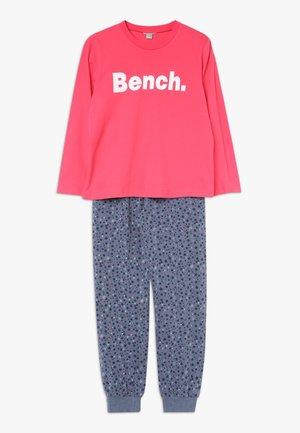 Pyjama set - coral/dark blue
