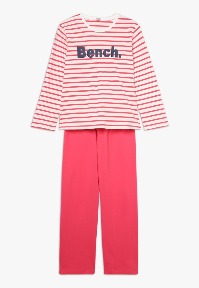 PYJAMA SET - Pyjamas - coral/off white