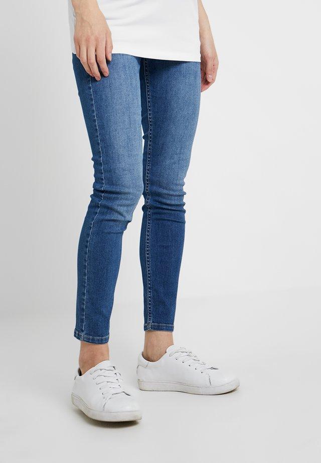 MIT ÜBERBAUCHBUND - Jeans Skinny Fit - blue denim