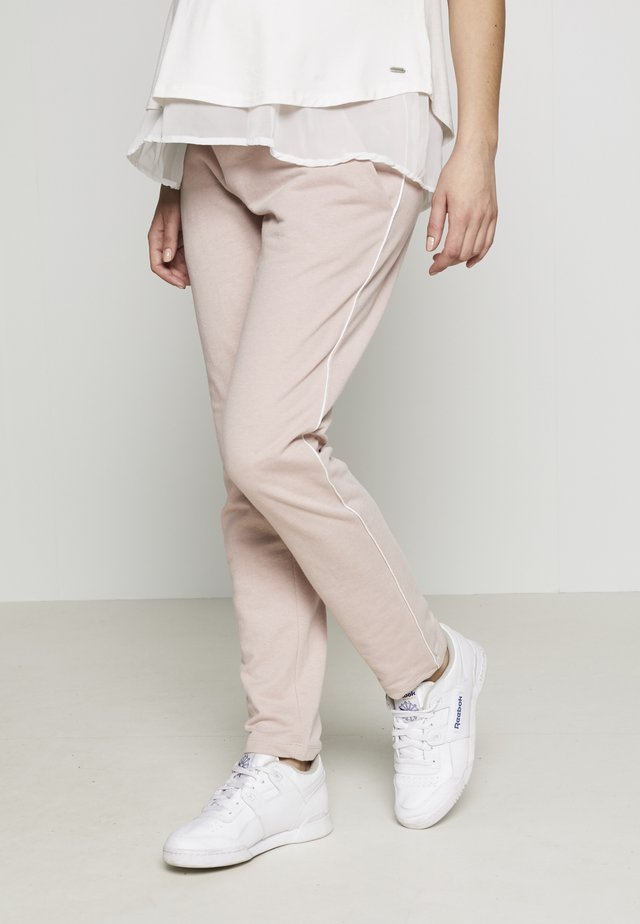 Tracksuit bottoms - shadow gray / rose