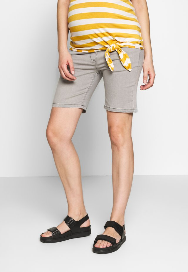 BERMUDAS - Denim shorts - grey denim