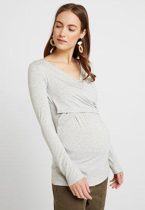 LAILA - Bluzka z długim rękawem - light gray melange/gray