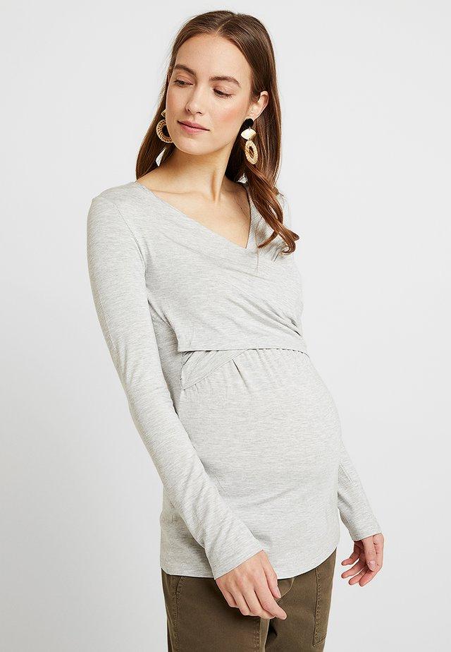 LAILA - Long sleeved top - light gray melange/gray