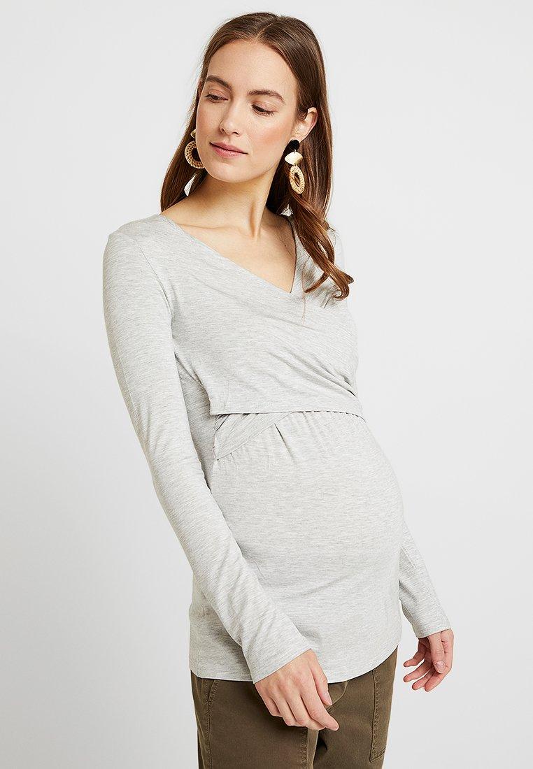 bellybutton - LAILA - Long sleeved top - light gray melange/gray