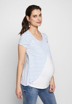 STILL ARM - Camiseta estampada - white/blue