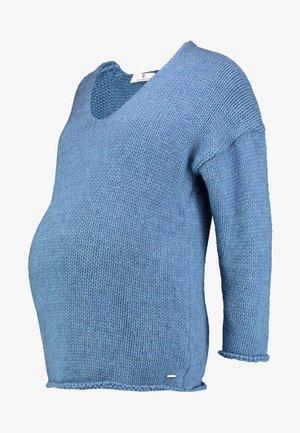 Stickad tröja - bijou blue