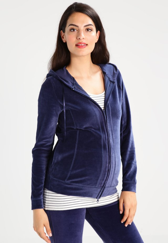Zip-up hoodie - crown blue
